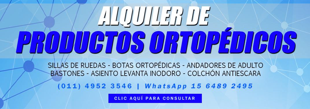 alquiler de productos ortopedicos